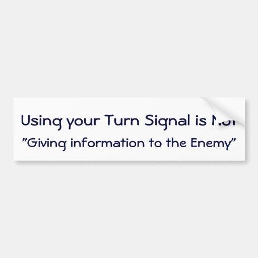 Utilice a su pegatina de la señal de vuelta pegatina para auto