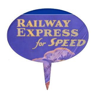 Utilice el ferrocarril expreso para la entrega figuras de tarta