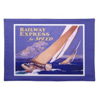Utilice el ferrocarril expreso para la entrega mantel individual