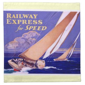 Utilice el ferrocarril expreso para la entrega servilletas imprimidas