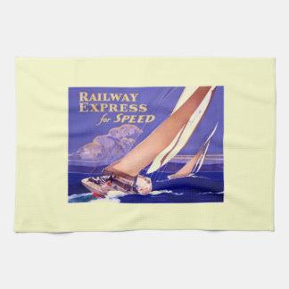Utilice el ferrocarril expreso para la entrega toalla de mano