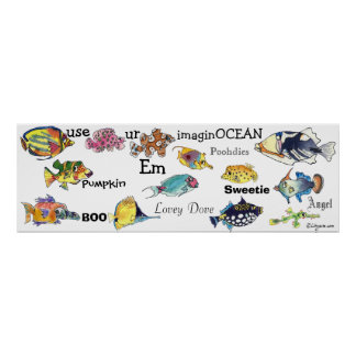 Utilice el MED de la bandera de los pescados del d Poster