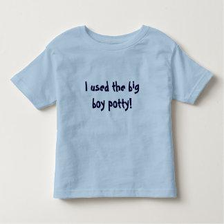 ¡Utilicé el potty grande del muchacho! Playeras