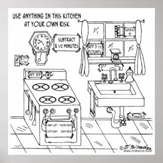 Utilice esta cocina en su propio riesgo impresiones