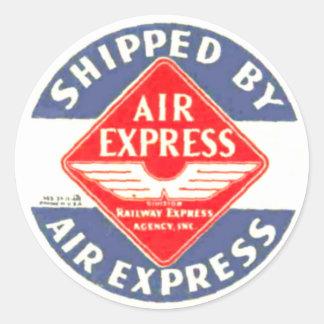 Utilice expreso de aire de los pegatinas expresos pegatina redonda