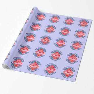 Utilice expreso de aire por el azul expreso de la papel de regalo