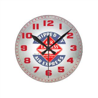 Utilice expreso de aire por la agencia expresa del reloj redondo mediano