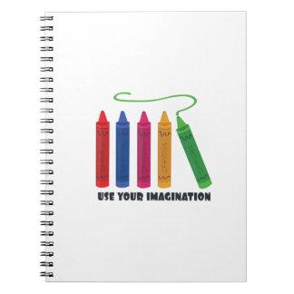 Utilice la imaginación cuaderno