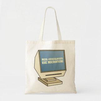 Utilice la microficha bolsa de mano