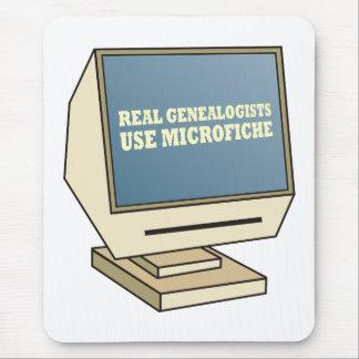 Utilice la microficha mouse pads