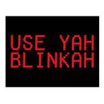 Utilice la postal de Yah Blinkah