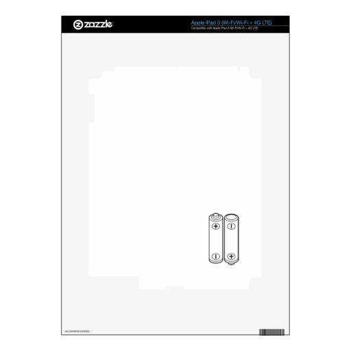 Utilice las pilas AA iPad 3 Skin