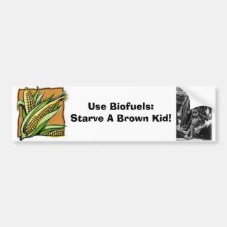 ¡Utilice los combustibles biológicos! Pegatina par Pegatina De Parachoque