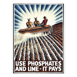 Utilice los fosfatos y la cal - paga tarjetones