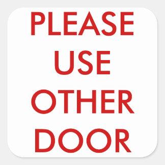 Utilice por favor a otros pegatinas de la puerta calcomania cuadradas personalizadas