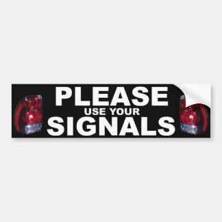 Utilice por favor a su pegatina para el parachoque pegatina para auto