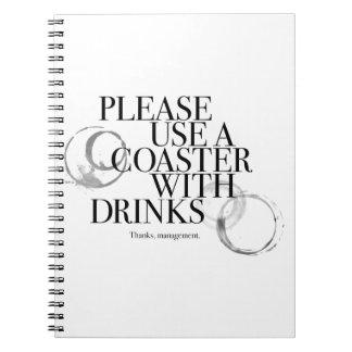Utilice por favor un práctico de costa cuadernos