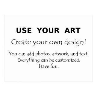 Utilice su arte crean sus propios diseños únicos postales