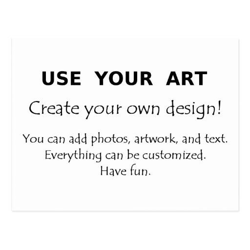 Utilice su arte crean sus propios diseños únicos tarjeta postal