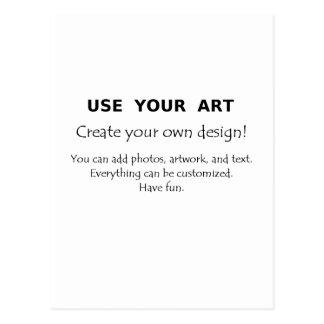 Utilice su arte crean sus propios diseños únicos postal