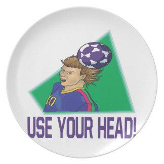 Utilice su cabeza plato