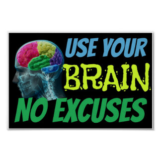 Utilice su cerebro ningún poster de la sala de cla