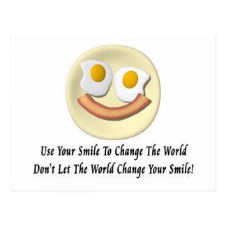 Utilice su sonrisa para cambiar el mundo tarjetas postales