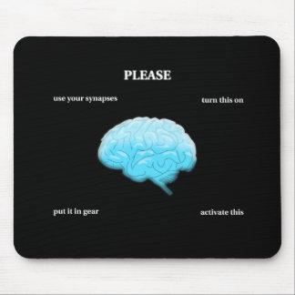 Utilice sus sinapsis tapetes de raton