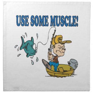 Utilice un poco de músculo servilleta de papel