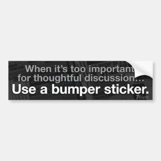 Utilice una etiqueta engomada de parachoques pegatina para auto