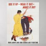Utilícelo encima de la impresión de WWII Posters