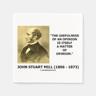 Utilidad de John Stuart Mill de una cita de la Servilleta De Papel