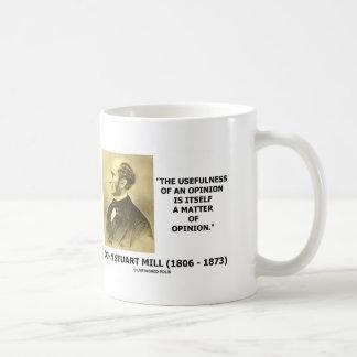 Utilidad de una cita de la cuestión de opinión de taza de café