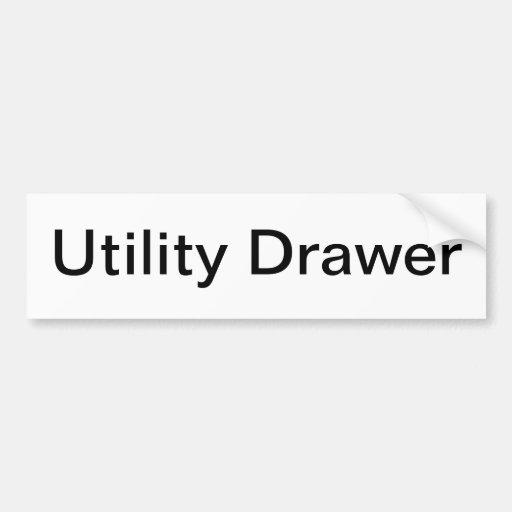 Utility Drawer Label/ Car Bumper Sticker