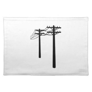 Utility Lines Cloth Placemat