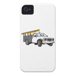 Utility Pick Up Truck Grey White Cartoon iPhone 4 Case-Mate Case