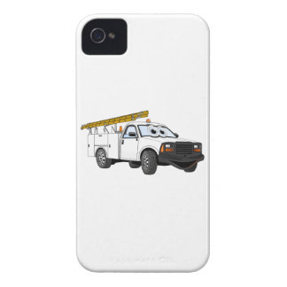Utility Pick Up White Cartoon Case-Mate iPhone 4 Case