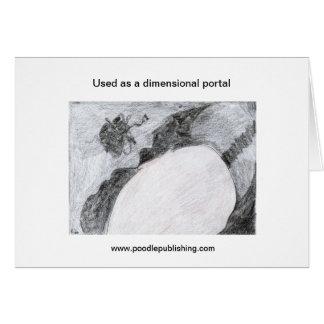 Utilizado como portal dimensional tarjeta de felicitación