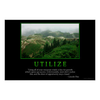 Utilize Poster