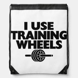 Utilizo las ruedas de entrenamiento