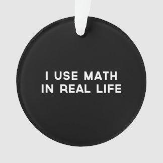 Utilizo matemáticas en vida real