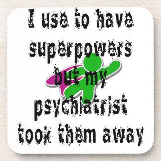 Utilizo para tener superpotencias posavasos de bebidas