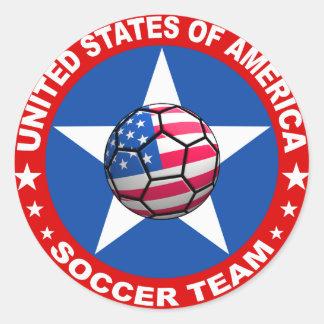 utilizó soccer equipo sticker