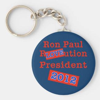 ¡Ution del AMOR de Ron Paul R! ¡Revolución 2012! Llavero Redondo Tipo Pin