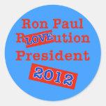 ¡Ution del AMOR de Ron Paul R! ¡Revolución 2012! Pegatina