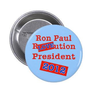 ¡Ution del AMOR de Ron Paul R ¡Revolución 2012 Pin