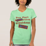 ¡Ution del AMOR de Ron Paul R! ¡Revolución 2012! Camisetas