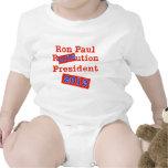 ¡Ution del AMOR de Ron Paul R! ¡Revolución 2012! Traje De Bebé
