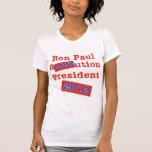 ¡Ution del AMOR de Ron Paul R! ¡Revolución 2012! Camiseta
