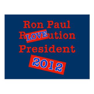 ¡Ution del AMOR de Ron Paul R! ¡Revolución 2012! Postales